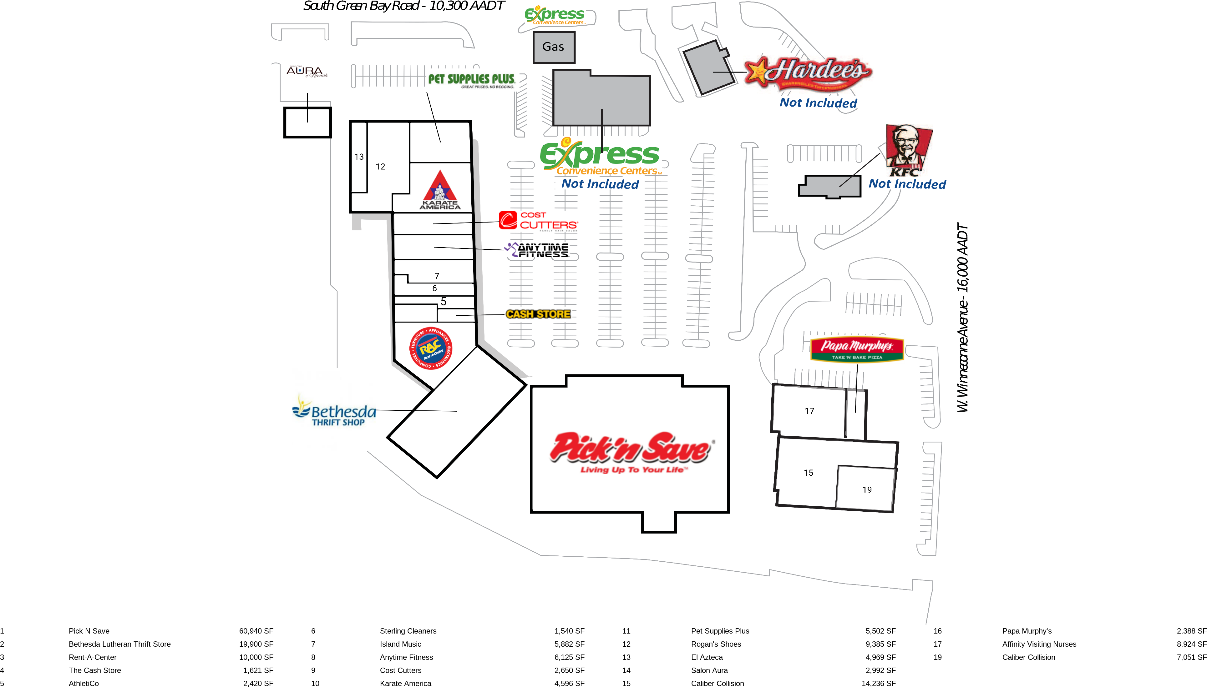 Neenah WI Fox Point Plaza Retail Space For Lease Inland